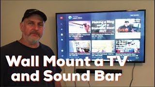How To Wall Mount A TV And Sound Bar - DIY EASY