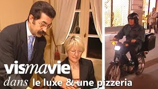 Le choc entre 2 monde : le luxe vs la pizzeria - Vis ma vie