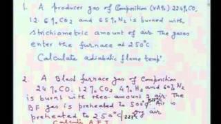 Mod-01 Lec-13 Flame Temperature Calculations