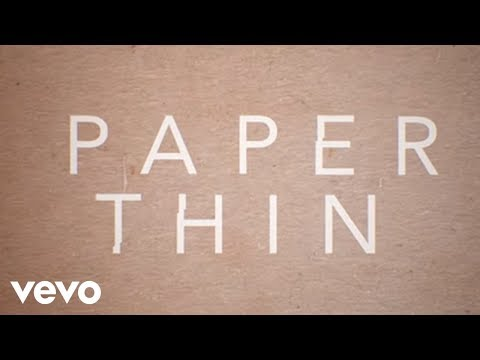 Astrid S - Paper Thin (Lyric Video)