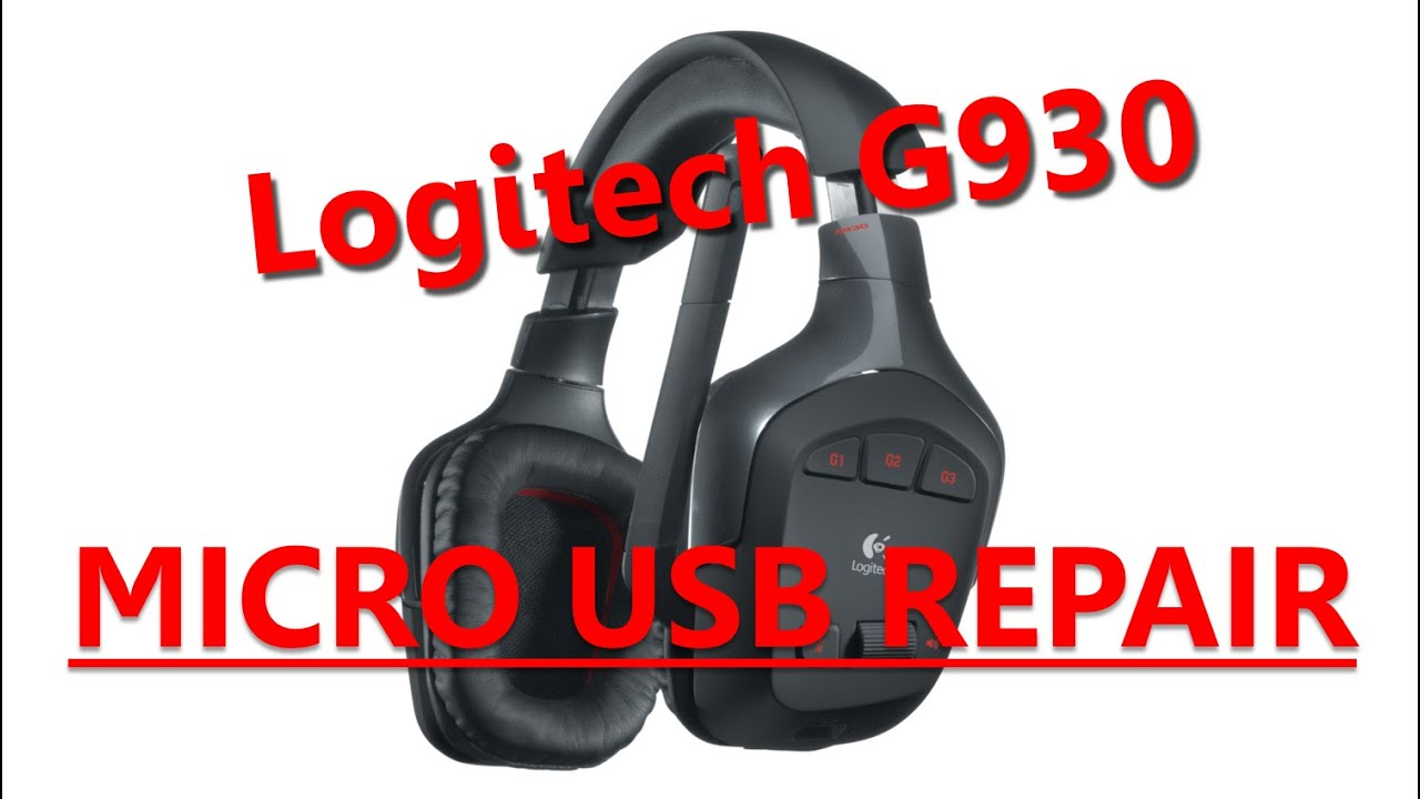 How To Repair Micro USB Connector on Logitech G930 Headphones