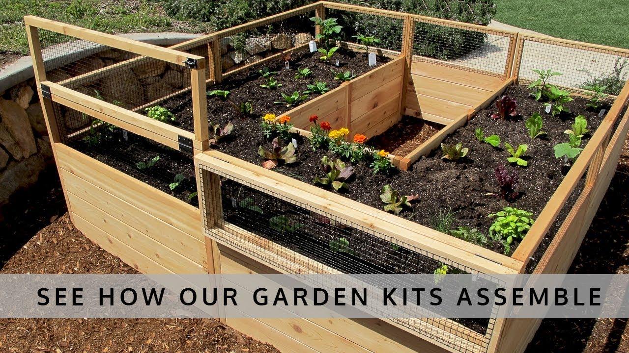 Raised Garden Bed 8x8 - OLT - YouTube