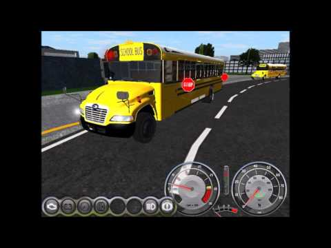 Rigs of Rods School Bus Driving - 2016 Blue Bird Vision - PM Route