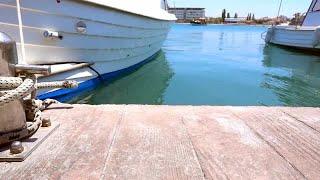 Boat Tied To Bollard  Stock Video