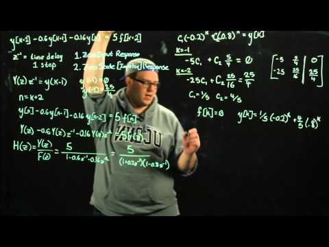 Signals and Systems - Difference Equations