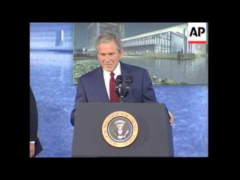 President Bush dedicates new US Embassy in Beijing