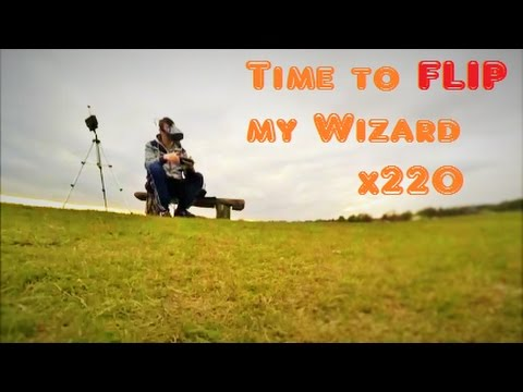 FPV training Wizard x220 & first FLIPS  racing drone quadcopter Eachine Wizard
