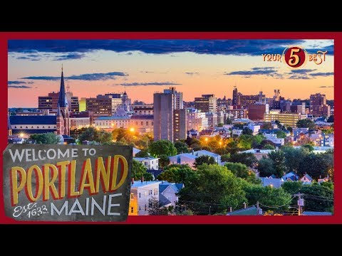 PORTLAND, Maine - Things To See + Do - 4k Drone Tour
