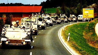 U.S. soldiers conduct LARGEST MECHANIZED TACTICAL ROAD MARCH exercise in Germany in 20 years!