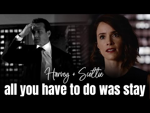Suits - Harvey + Scottie - All you had to do was stay