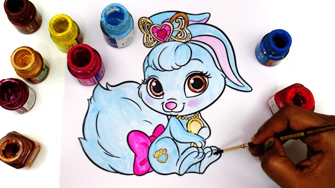 colouring Wisker Haven Berry, Snow White's pet bunny ...