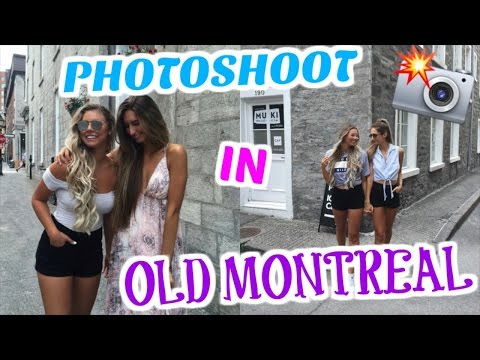 PHOTOSHOOT IN OLD MONTREAL!!