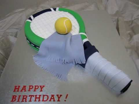 Tennis Racket Fondant Cake 1st Video Post Youtube