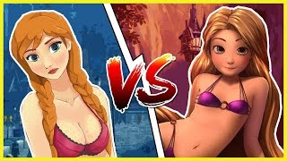 FROZEN ANNA vs RAPUNZEL ! GamesWeek #3