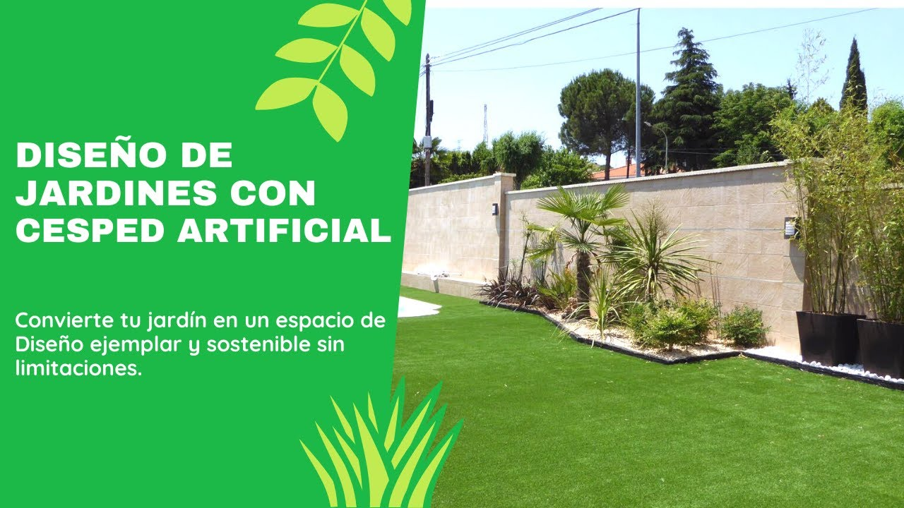 Dise o de jardines con c sped artificial youtube for Un jardin con enanitos