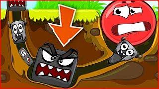 Новый Красный Шар против Самого ЧЕРНОГО КВАДРАТА ! Игра про шарик Red ball 4 для детей !