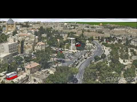 Jerusalem cable car plan by Simplex 3D city model