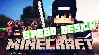 Minecraft SPEED DESIGN  3D шапка для канала ютуб + Free Download