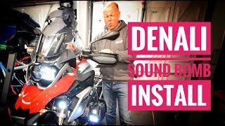 BMW R1200GS Denali Sound Bomb Installation with the Hex EZcan