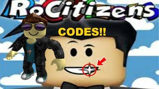 ROBLOX RoCitizens | SECRET MONEY CODES!! (2018!)