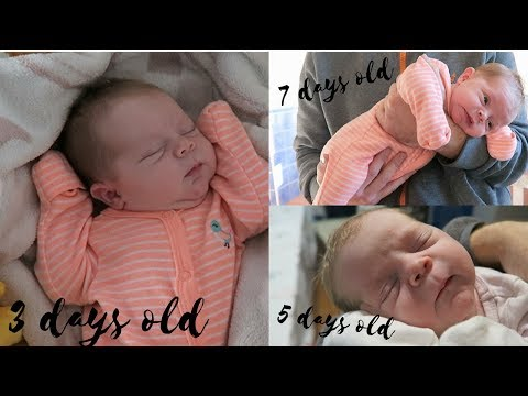 NEWBORN BABY - 3 DAYS OLD, 5 DAYS OLD & 7 DAYS OLD