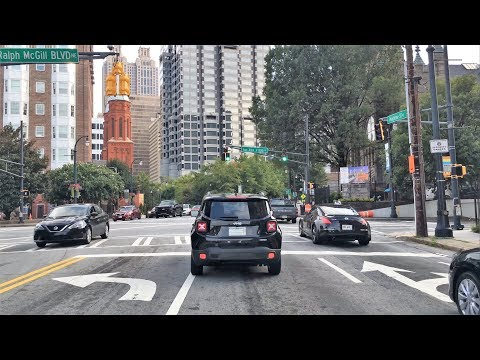Driving Downtown - Atlanta's Main Street - Atlanta Georgia USA