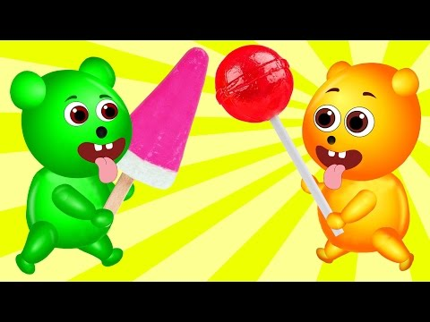 Thumbnail: Mega Gummy Bear Babies Getting Magic Spiral Ice Cream Finger Family Cartoon Videos For Children