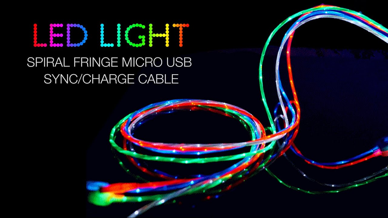 LED Light usb connector Micro USB Sync Charge Cable Smartphone Tablet laptop review - YouTube  sc 1 st  YouTube & LED Light usb connector Micro USB Sync Charge Cable Smartphone ... azcodes.com