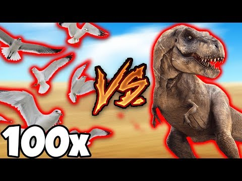100 Gabbiani vs. 1 Tirannosauro! Indovina Chi Vince? | Beast Battle Simulator [Gameplay ITA]