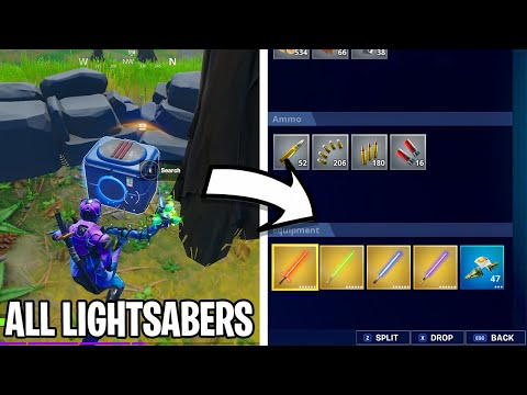 How to Get All Lightsabers In Fortnite - Star Wars X Fortnite