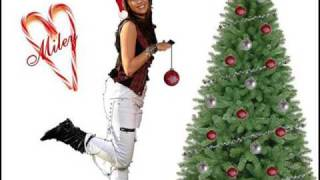 miley cyrus - rockin around the christmas tree + lyrics