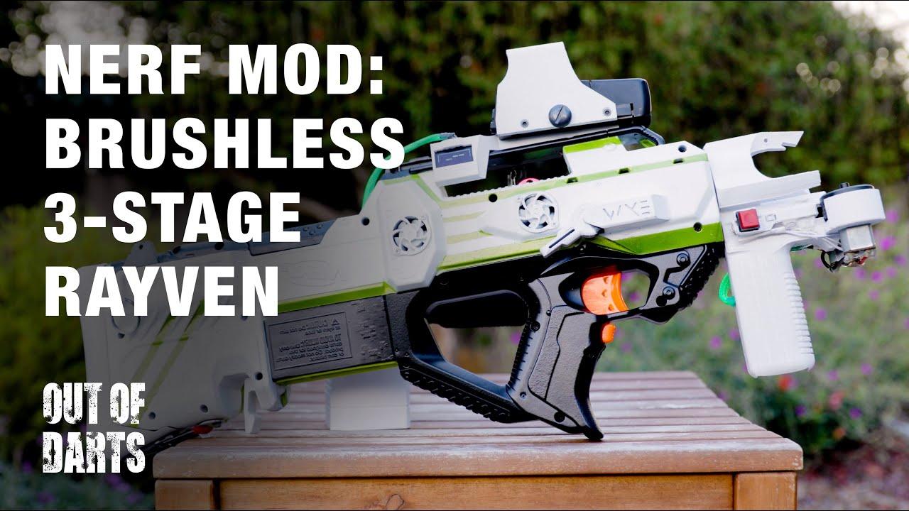NERF GUN MOD By Eli Brushless Rayven Mod Extreme FPS YouTube
