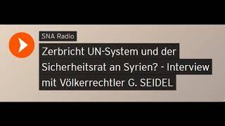 Völkerrechtler G. Seidel: Zerbricht UN-System und der Sicherheitsrat an Syrien? (Sputniknews)