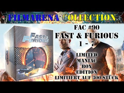 Filmarena Collection #90 - Fast & Furious 1 - 7 - Limited Maniac Box Set Edition