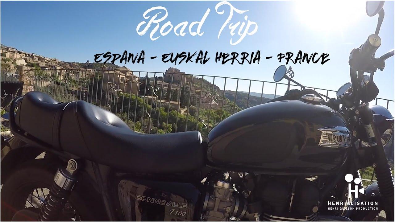 road trip moto espagne pays basque france triumph bonneville bmw gs youtube. Black Bedroom Furniture Sets. Home Design Ideas