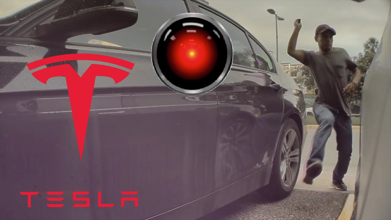 Tesla Sentry mode robbery caught on video - YouTube