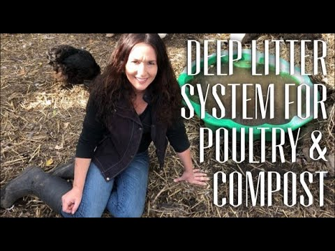 Deep Litter Flooring System for Duck Poultry Coupe & Composting