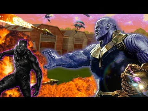 BLACK PANTHER vs. THANOS on FORTNITE! (Voice Troll)
