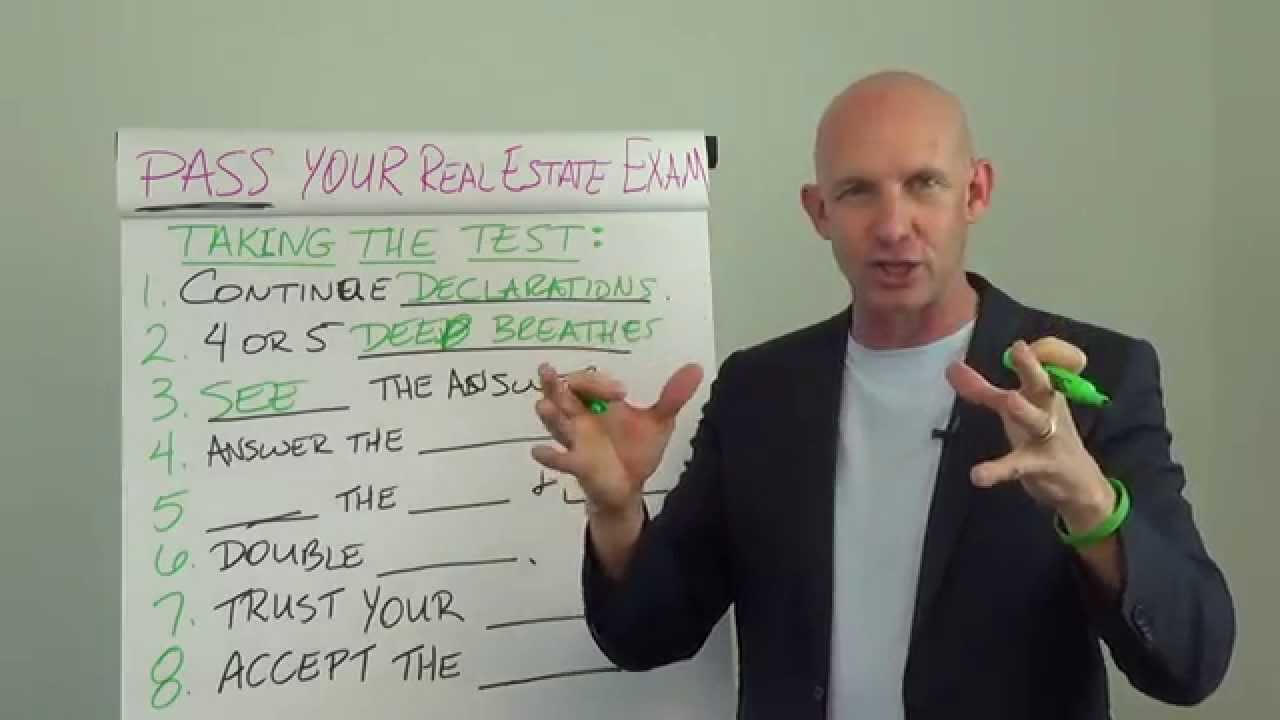 How to Pass Your Real Estate License Exam the First Time: Taking the Test