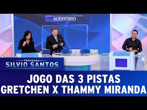 Jogo das 3 Pistas Gretchen e Thammy Miranda | Programa Silvio Santos (16/07/17)