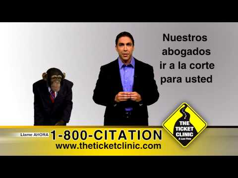 Ticket Clinic Commercial - 30 Sec - Espanol Standing Chimp