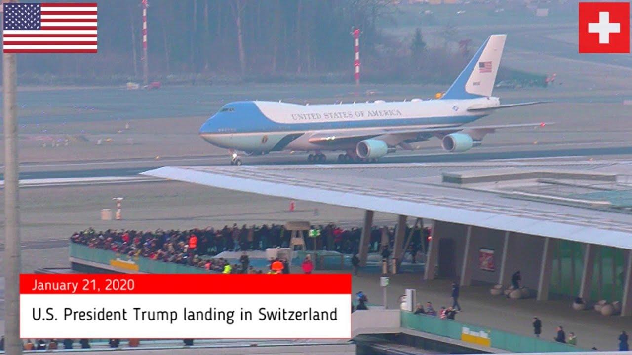 Download Air Force 1 POTUS Trump landing Zurich WEF 2020 + Marine One 7 ship formation