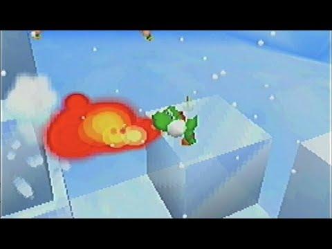 スーパーマリオ64DS-36「スノーマンズランド-3 ヨッシーの氷のオブジェ(ファイアヨッシー解禁!)」 - YouTube