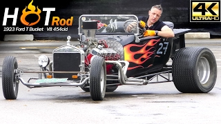 Amazing Hot Rod Sound V8 too LOUD | car in detail + Big engine Startup,  Acceleration !