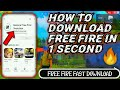 Gambar cover How to Download Garena Free Fire: 3volution in 1 Second | Garena Free Fire 🔥 Fast Download🔥Trending🏆