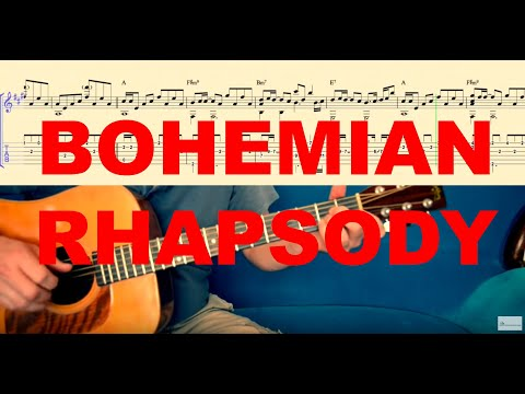 bohemian rhapsody tutorial for guitar tabs and score. Black Bedroom Furniture Sets. Home Design Ideas