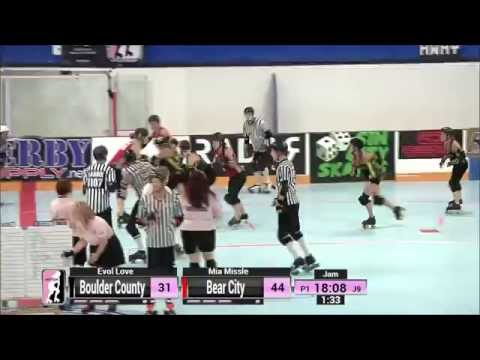 Detroit G1:  Boulder County Bombers v Bear City Roller Derby