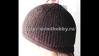Вязание мужской шапки