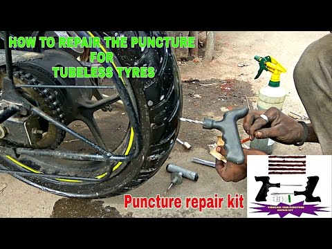 SUZUKI GIXXER SF DIY : How to check / repair the puncture on tubeless tire.