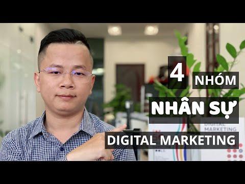 4 nhóm nhân sự Digital Marketing | Marketing | Thầy Giáo Mưa